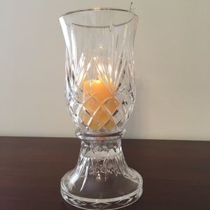 "Partylite 10"" Cut Glass Hurricane Candle Lamp"